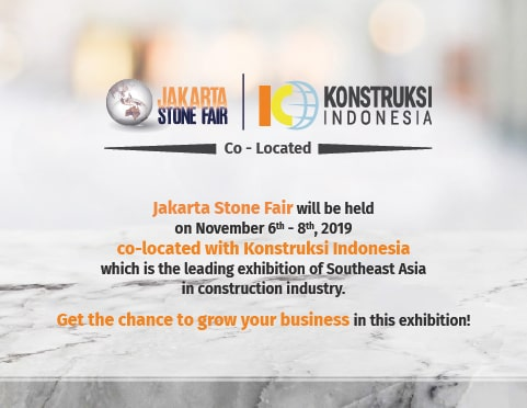 2TH INTERNATIONAL NATURAL STONE & TECHNOLOGY FAIR JAKARTA, INDONESIA, 06-08 NOV 2019-min